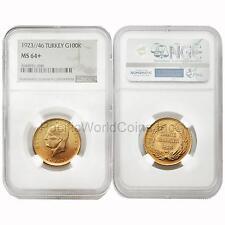 Turkey 1923/46 100 Kurush Gold NGC MS64+