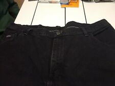 """Vintage, Riders Womens Relaxed Fit, Jeans 20 M Black, 29 1/2"""" Inseam"""