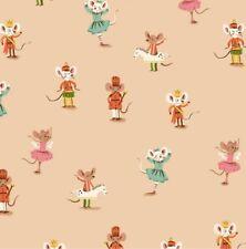 FT161 Heather Ross Sugar Plum Mouse Nutcracker Ballet Retro Cotton Quilt Fabric