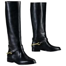 Ralph Lauren Jenny Leather Tall Riding Boots POLO BLACK SIZE 6 B Womens NEW