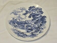 Vintage Wedgwood Countryside Dinner Plate Blue/White VGC Free UK P&P