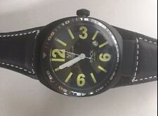 Montres de Luxe Men's  Avio Black lime Luminous Leather Watch new