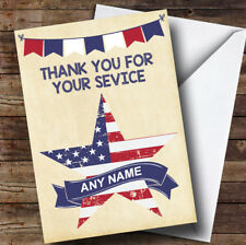 USA Flag Star Personalised Retirement Card