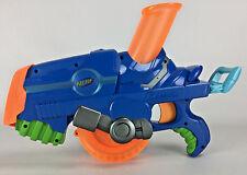 Vintage Blue NERF Buzzsaw Toy Gun Ball Shooter Blaster Hasbro 2006