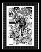 MARVEL Comics X-MEN #2 Rare Production Art Cover Jim Lee MAGNETO WOLVERINE ROGUE
