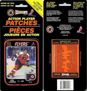 1993 Official NHL Action Player Patch - Eric Lindros - Philadelphia Flyers - NM