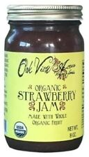 ORGANIC STRAWBERRY JAM 100% Natural Amish Whole Fruit Spread USDA PCO Certified