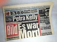 Bildzeitung vom 22.10.1992 * Petra Kelly Mord ? 24. 25. 26. Geburtstag