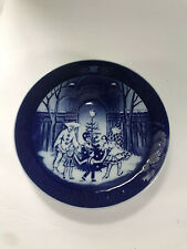 "Christmas at Tivoli Royal Copenhagen Blue White Porcelain Plate 1990 Xmas 7"""