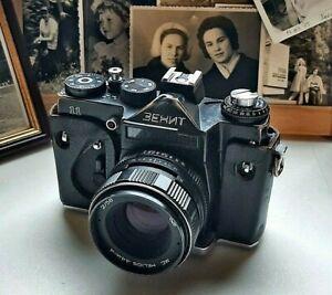 SLR Film Camera 35mm ZENIT-11 vintage rangefinder USSR, rare cameras tested M42