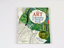 Usborne National Gallery Art Colouring & Sticker Book Children Adults + Pencils
