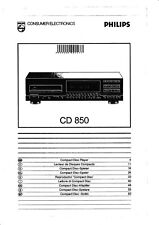 Bedienungsanleitung-Operating Instructions for Philips CD 850