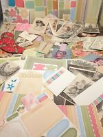 Craft lot paper Ephemera for junk journaling collage scrapbooking floral vintage