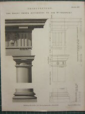 1802 DATED ANTIQUE PRINT ~ ARCHITECTURE DORIC ORDER SIR W CHAMBERS