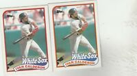 FREE SHIPPING-MINT-1989 Topps #656 Ivan Calderon Chicago White Sox -2 CARDS