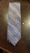 Calvin Klein Blue Brown Checkerboard Designer Mens Necktie Free Shipping
