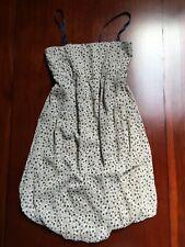 131757a03894 Brend originale vestito corto pois beige blu marrone a fascia tg M