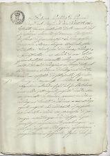 P886-DUCATO DI PARMA-S.PELLEGRINO PARMENSE ATTO DI VENDITA TERRENO 1835
