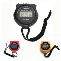 Electronic Handheld Digital LCD Chronograph Sports Stopwatch Counter Timer Alarm