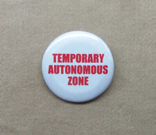 "Temporary Autonomous Zone Button 1.25"" TAZ Hakim Bey Anarchy Pirate Badge Pinbck"