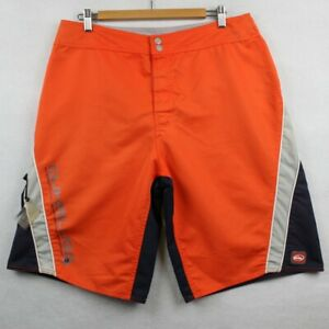 Quicksilver Size 33 Men's Orange And Blue Board Shorts Wax Comb Surf Beach