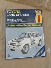 Manuale - HAYNES Manual 92056   : Toyota  Land Cruiser  1980 > 1996