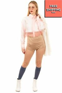 DIESEL SKF-LYA Knitted Socks Size S Blue Knee High Made in Italy