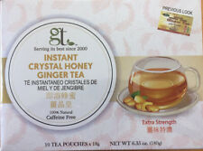 GT Instant Crystal Honey Ginger Tea - 10 Bags - Extra Strength