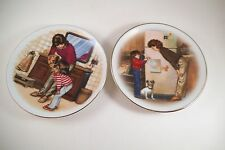 Vintage Pair of Avon Collector Plates Special Memories Mother's Day