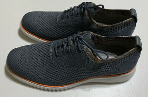 Cole Haan Mens Gray 2 Zero Grand Oxford Shoes Size 9 NEW