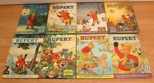 Vintage 1960s/70s Rupert the Bear Daily Express Annuals Hardback Books