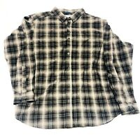 Columbia Men,s Plaid Casual Button Front Shirt Size XXL Cotton EUC