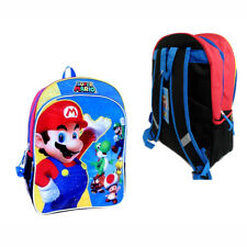 "Nintendo Super Mario Luigi Yoshi 16"" Backpack with Side Mesh NEW"