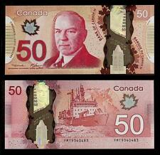 [77365] Canada 2012 50 Dollars Polymer Bank Note AUNC P109a