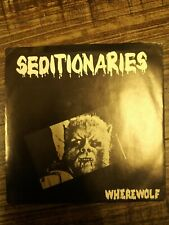 SEDITIONARIES Wherewolf RARE punk 45 KBD original on Rabid Records SED 001 VG+