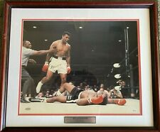 Muhammad Ali Signed 16x20 Sonny Liston Fight Photo, Framed Autograph Steiner COA