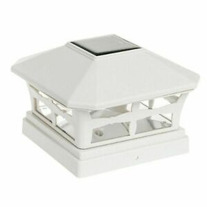 2/4/6/8/10/12pcs Outdoor White Plastic Solar Post Cap Light with One LED