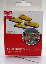 Busch 7796 Seifenkisten 4 x Stück Scale 1 87 NEU OVP