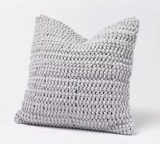 NWT Anthropologie Coyuchi Woven Rope Pillow Sham Set of 2 Pewter