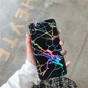 Shiny Marble Holographic Soft Case Cover For iPhone 13 12 Pro Max 11 XR XS 8 7 X