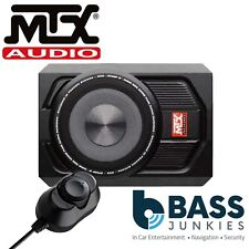 "MTX RTU8P - 600 Watts 8"" 20cm Active Amplified Car Under Seat Slim Fit Subwoofer"