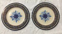 Set Of 2 - NEW William Sonoma Outdoor Melamine Dinner Plates *SLIGHT FLAW*
