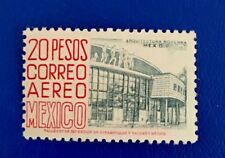 MEXICO 1956 AIRMAIL Architecture 20pesos Sc#C217 MNHOG XF Great Piece Y7/19