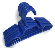 "12 Royal Blue Plastic Hangers(1 Dozen) for 18"" American Girl Doll Clothes Boy"