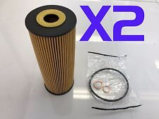 2x Oil Filter Suits R2596P SSANGYONG ACTYON KORANDO KYRON MUSSO REXTON STAVIC