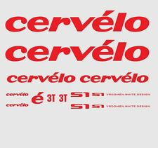 Cervelo S1 Bicycle Decals, Transfers, Stickers: Red n.3
