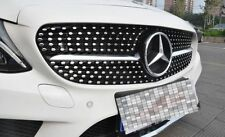 MERCEDES BENZ A CLASS W176 12-15 GLOSS BLACK GRILL GRILLE DIAMOND LOOK & BADGE