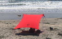 Neso Tents Beach Tent with Sand Anchor, Portable Sun Shelter (Lehua Red)-USED