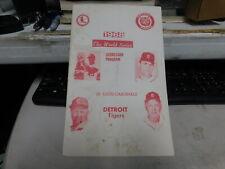 1968 World Series Scorecard St Louis Cardinals Vs Detroit Tigers