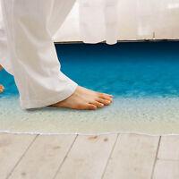 Entfernbarer 3D Strand Meer Wand Aufkleber Fußboden Aufkleber Wohnzimmer ~.